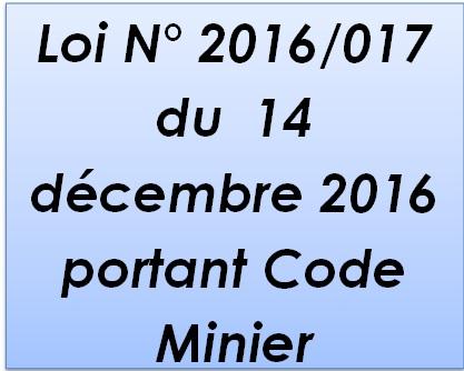 Code Minier de 2016